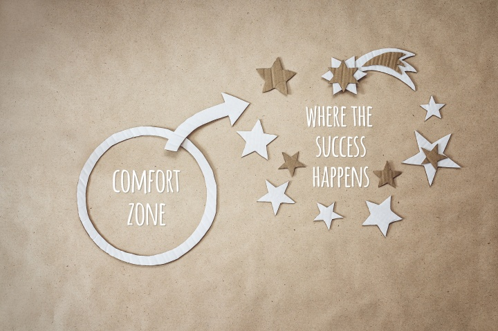 Inspirational quote and encouragement to leave your comfort zone